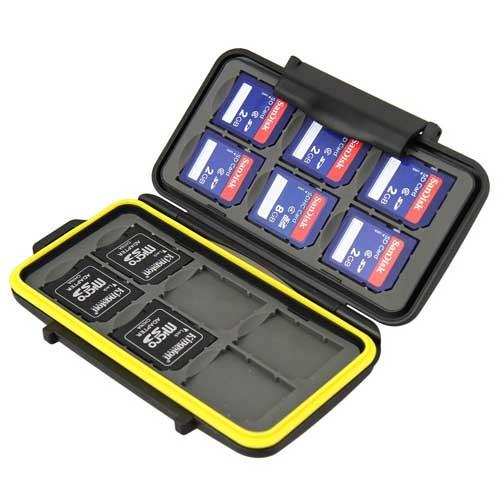 SD Karte Tasche feste Schutzhülle für Speicherkarte MC-SD12 SDKarten Tasche von JJC