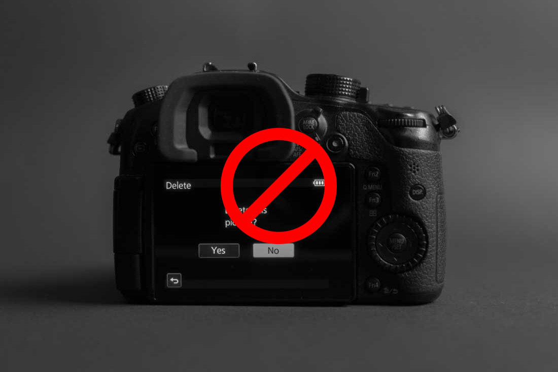 SD Karte - Dateien niemals von der Kamera aus löschen!